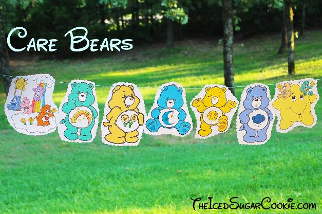 Care Bears Birthday Party Baner DIY Idea