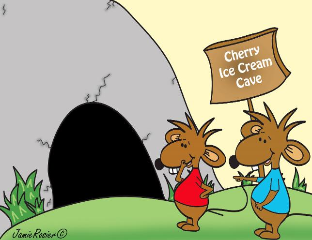 Stincel And Ringlet © Cherry Ice Cream Cave. Cartoon Characters of Two Mice