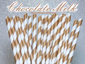 Chocolate Milk Paper Straws Birthday Party