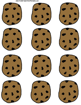 Free Chocolate Chip Cookie Printable Template by Free Birthday Party Printables