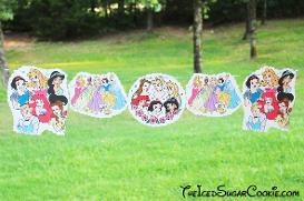 Disney Princess Birthday Party Banner DIY Ideas Sleeping Beauty Aurora, Cinderella, Snow White, Beauty And The Beast Belle,The Princess And The Frog, Aladdin Jasmine, The Little Mermaid Ariel