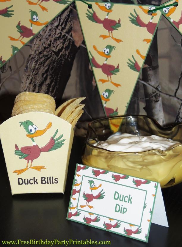 Free Duck Hunting Birthday Party Printables