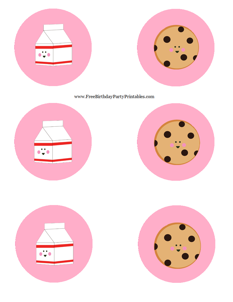 Milk And Cookie Free Birthday Party Printables