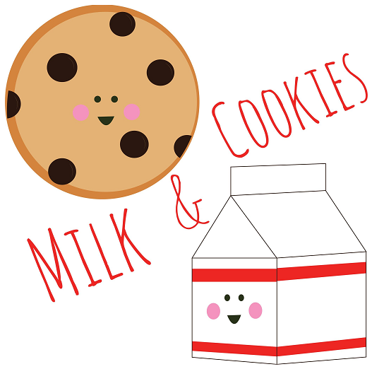 photo regarding Cookie Printable referred to as Milk And Cookie Absolutely free Birthday Get together Printables