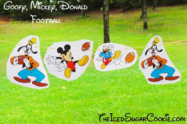 Goofy Mickey Mouse Donald Duck Football Birthday Party Banner DIY Ideas