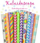 Kaleidoscope Paper Straws by The Iced Sugar Cookie- Birthday Party Printables Ideas and Supplies
