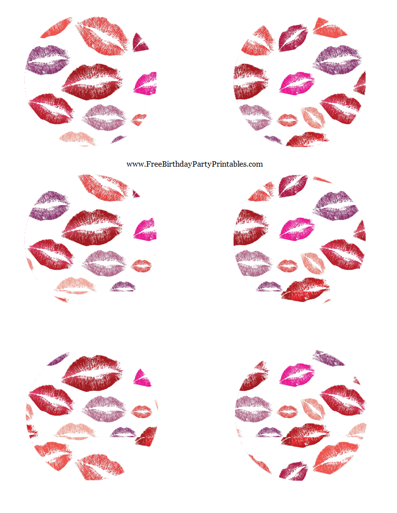 Lipstick kiss birthday party printables free lipstick kiss birthday party printables 6 mason jar templates pronofoot35fo Images
