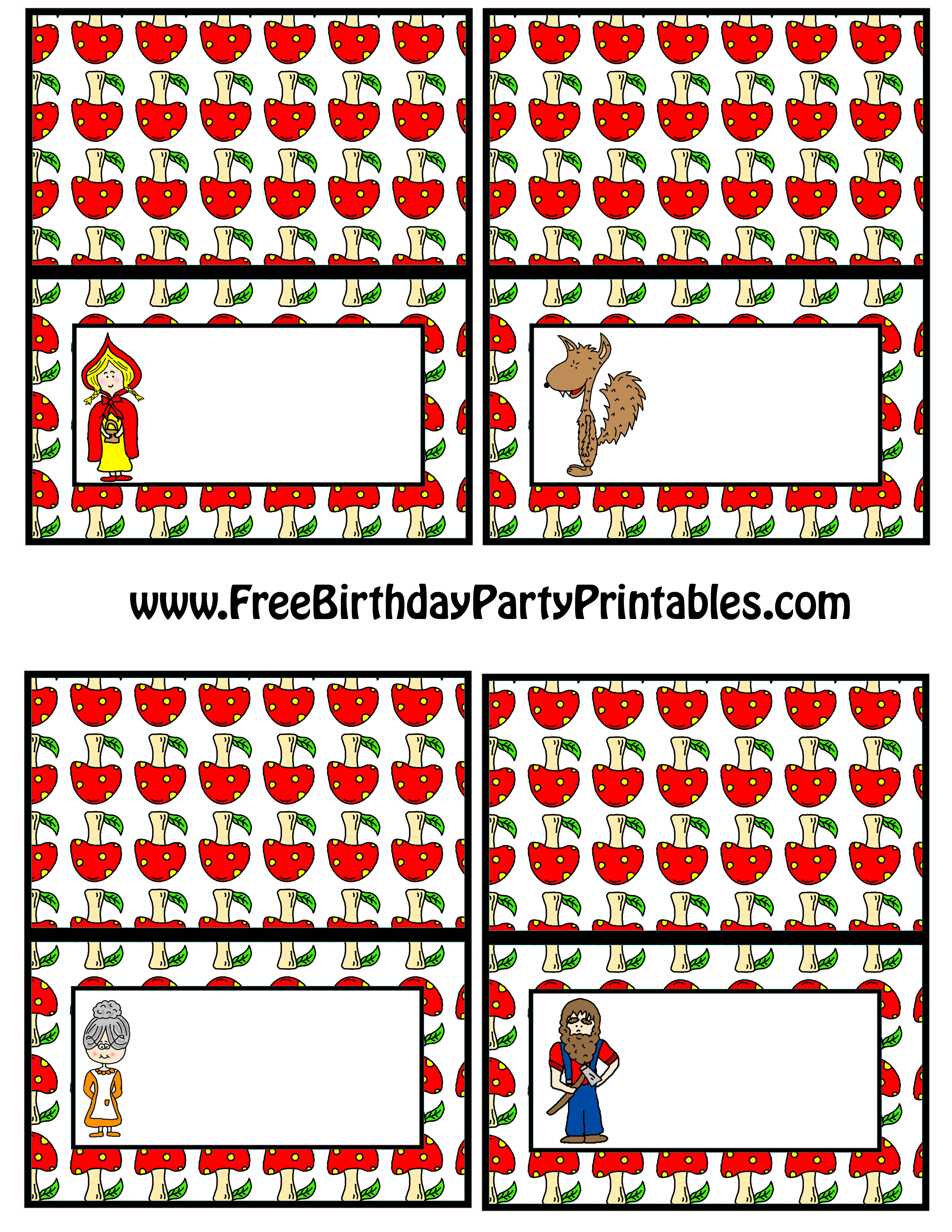 Little Red Riding Hood Printables Images & Pictures - Findpik