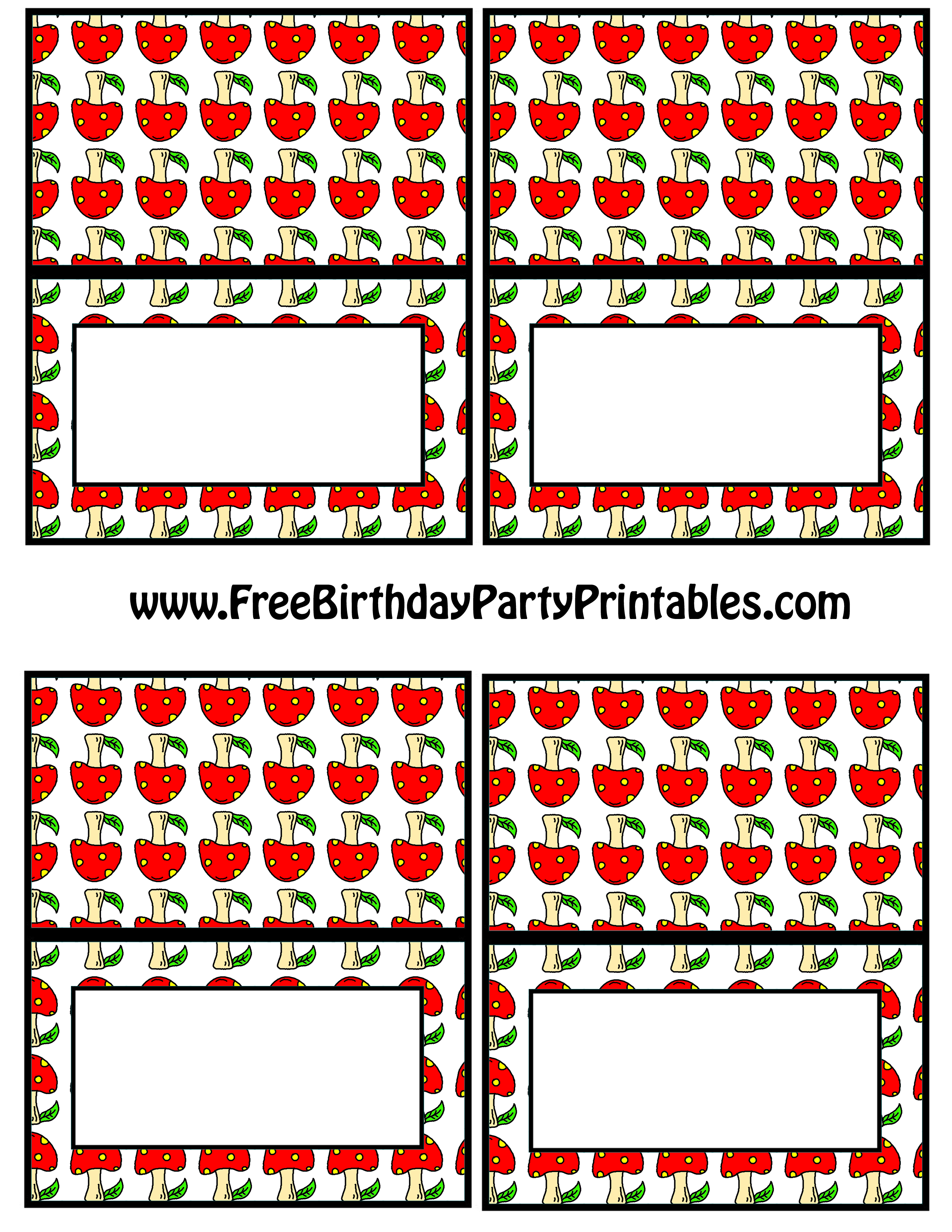 Little Red Riding Hood Free Birthday Party Printables
