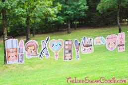 Makeup birthday party banner diy ideas