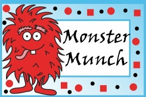 Monster Birthday Party Printables-Food Label Tent Cards-Monster Munch, Monster Eggs, Monster