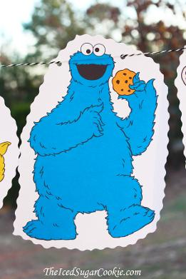 Sesame Street Cookie Monster Birthday Party DIY Idea
