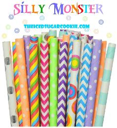 Silly Monster Straws Birthday Party