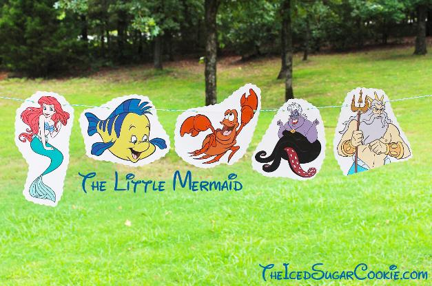 The Little Mermaid Birthday Party Banner DIY Ideas