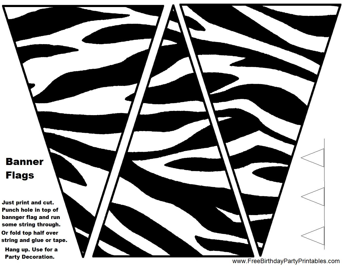 Purple Zebra Birthday Party Printables Food Tent Cards DIY ...