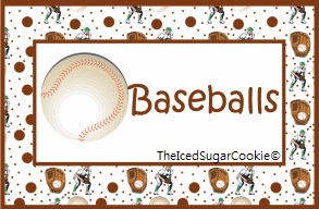 DIY Baseball Birthday Party Printables-Food Label Tent Cards Cutout Template for sports birthday party for kids!